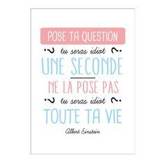 Carte Pose ta question - Un grand message inspirant (et amusant !) - 2,50 €