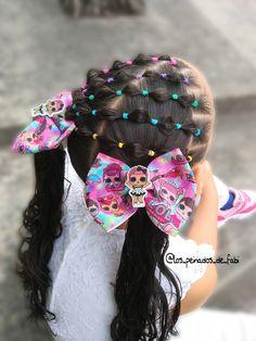 Little Girl Hairdos, Girls Hairdos, Lil Girl Hairstyles, Cute Hairstyles For Kids, Pretty Hairstyles, Hair Due, Toddler Hair, Hair And Nails, Stellaluna