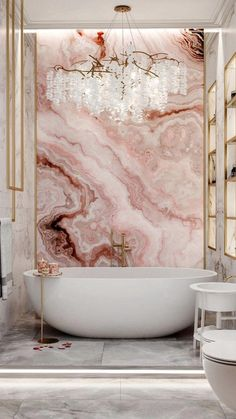 Romantic Bathrooms, Dream Bathrooms, Beautiful Bathrooms, Pink Bathrooms, Glamorous Bathroom, Luxury Bathrooms, Dream Home Design, Home Interior Design, House Design