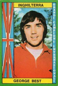 George Best of Man Utd card in 1970.