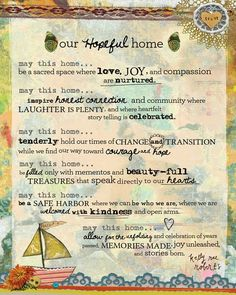 I recently created this new piece in the manifesto series. As we've been settling in our new home and making it a place where memories are held, I felt inspired. Our homes hold so much living, no? The transitions, the tender moments, the fierce ones, the treasures we love and hold dear. I believe in ceremony and ritual. I believe in naming our homes. I also believe in creating declarations like the art piece above as a way of inviting in all that we want to invite into our homes.