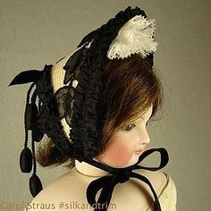 Straw Hat for 16-18 in French Fashion Lady Doll - Carol H. Straus #dollshopsunited #silkandtrim