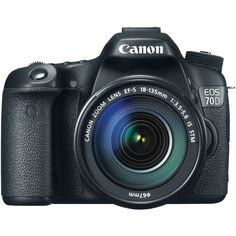 Canon EOS 70D Digital SLR Camera with EF-S 18-135mm F3.5-5.6 IS STM Lens, Black , USA - Bundle - with Canon EF-S 55-250mm f/4-5.6 IS II IS Lens, USA for $1,349.00