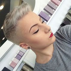 The Best Short Haircut Styles For Women – HerHairdos Edgy Short Haircuts, Cool Haircuts, Short Hair Cuts, Short Hairstyles, Fohawk Haircut, Fade Haircut Styles, Shaved Hair Cuts, Super Short Hair, Sassy Hair