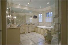 master bath...tile pattern on floor, paint on cabinets