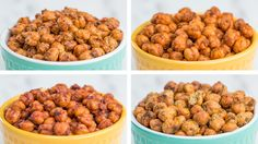Make these roasted chickpeas 4 ways for a tasty, high-protein snack