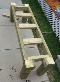 How To Build A Simple Patio Deck Bench Out Of Wood Step By Step   RemoveandReplace.com #deckbuildingstepbystep #deckbuildingtools #woodworkingbench