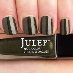 Julep KENDRA Nail Color Treat Polish It Girl Army Green Frost BNIB #Julep