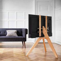 Tv Floor Stand, Wood Furniture, Furniture Design, Tv Cabinet Design, Wooden Tv Stands, Diy Home Decor, Room Decor, Uk Homes, Light Oak