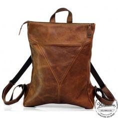 """Кожаный рюкзак """"Ария XL"""" коричневый"""