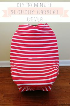 10 minute DIY Slouchy Car Seat Cover Tutorial
