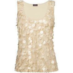 A gorgeous scoop neck vest with oversize sequins on the front and a plain jersey back. Team with skinny jeans and an oversize clutch for an effortless evening …