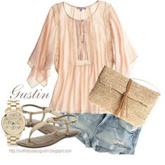 casual summer, style, cloth, summer outfits, denim shorts, hello summer, spring outfits, bags, shirt