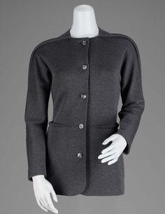 Geoffrey Beene Charcoal gray wool jersey jacket. Fall/Winter 1998