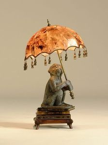 Maitland-Smith Lamps and Lighting Finely Cast Verdigris Patina Monkey On Books Desk Lamp, Inlaid Penshell Shade - Douds Furniture - Plumville, PA Elephant Lamp, West Indies Style, British Colonial Decor, Book Lamp, Maitland Smith, Parasols, Umbrellas, Small Lamps, Stained Glass Lamps