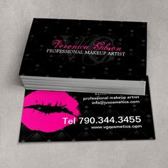 Fully customizable Tufted Hot Lips business card template created by Colourful Designs Inc.