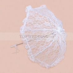 WHITE LACE WEDDING UMBRELLA