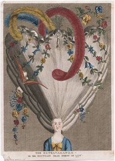 Jaime - hair illustrations/prints The extravaganza, or, The mountain head dress of 1776. Lewis Walpole Library