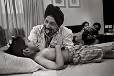 Healers | Steve McCurry  now this is great bedside manner..Delhi, India
