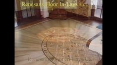 Wood floor inlays medallions and borders Marquetry interior decorating