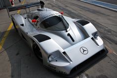 Silver Arrow. Group C Sauber/Mercedes C11 prototype sports racing car. The Group…