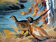 man cave art paint by numbers forest pheasants by Rosehilde