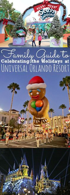 Family Guide To Celebrating the Holidays at Universal Orlando Resort - Holiday Travel - Disney Orlando Travel, Orlando Vacation, Orlando Resorts, Family Vacation Destinations, Family Vacations, Cruise Vacation, Family Travel, Orlando Disney, Orlando Florida