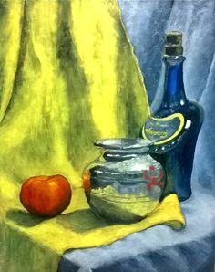 still life oil on canvas