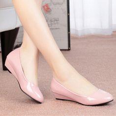 Cute Shoes, Me Too Shoes, Wedge Wedding Shoes, Shoe Boots, Shoes Heels, Cinderella Shoes, Girls Flats, Beautiful High Heels, Dream Shoes