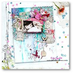 the Colour Press: ( VIDEO Tutorial) : Scrapbooking on Canvas using & Prima Marketing Word Challenge, Scrapbook Pages, Scrapbooking, Scrapbook Layouts, 2017 Design, Prima Marketing, More Than Words, Chipboard, Mixed Media Art