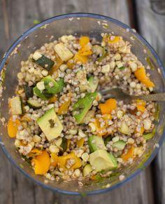 Roasted Zucchini, Corn, & Barley Salad