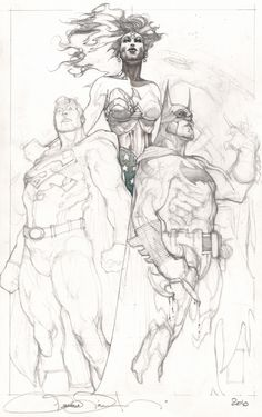 Batman, Superman + Wonder Woman | Simone Bianchi