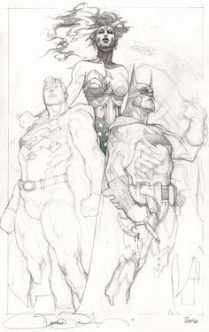 Batman, Superman + Wonder Woman   Simone Bianchi