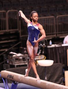 Gabrielle Douglas - USA gymnastics -- LOOK AT HER ARMS!