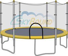 "Trampoline Mat: 14 ft Frames; 84 Springs; 5.5"" Springs; Free Tool"