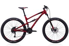 Polygon Bikes Siskiu D5 Medium 17 inch Red Full Suspension Mountain Bike * Check out this great product. (This is an affiliate link)