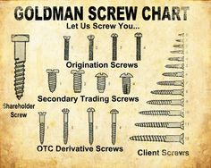 Goldman Sachs - We are gonna screw you.