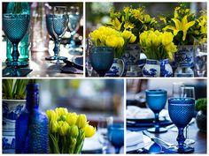 Decoração de azul e amarela - Flores amarelas - Tulipas amarelas - Yellow…