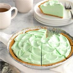 Fluffy Key Lime Pie Recipe -For a taste of paradise, try this light and creamy confection. It's low in fat, sugar and fuss. Dessert doesn't get any easier! —Frances VanFossan, Warren, Michigan