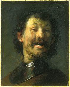 Rembrandt, Lachende Man, ca. 1629/30. (Mauritshuis, Den Haag). #franshalsmuseum #rembrandt #painting #art