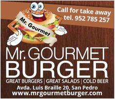 Mr. Gourmet Burger - Advert designed by Redline Company http://www.redlinecompany.com/portfolio/graphic-design/mr.-gourmet-burger-advert.html