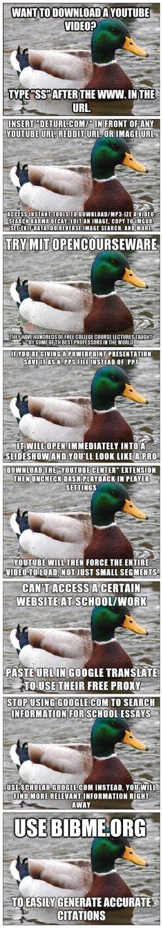 Some handy internet advice