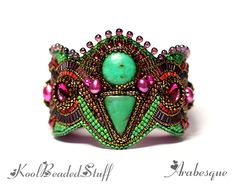 Lots of beautiful bead embroidery bracelets on the site.
