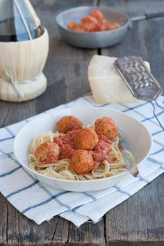 Spaghetti con polpette vegetariane di Lilli e il Vagabondo / Lady and the Tramp spaghetti+vegetarian meatball recipe