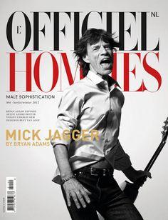 Mick Jagger for LOfficiel Hommes NL Fall winter 2012