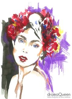 dramaQueen- fashion illustration by Fanny Csefalvay