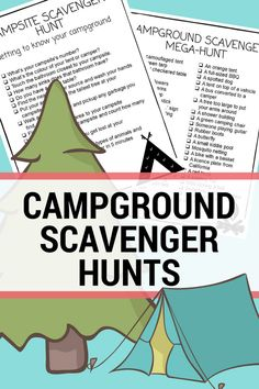 Try a printable campground scavenger hunt for your next family camp out. These lists will surely provide hours of summer fun for kids and families! | outdoor activity ideas | #printables #campingwithkids #scavengerhunt #outdooractivities #takethemoutside