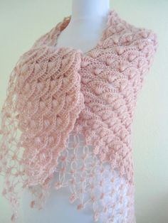 crochet shawl -JUST THE LACY BOTTOM PART
