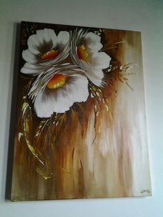 Acrylic Painting Flowers, Easy Canvas Painting, Simple Acrylic Paintings, Acrylic Painting Techniques, Painting & Drawing, Art Floral, Abstract Watercolor, Flower Art, Modern Art