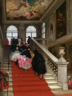 Lucius Rossi 1846-1913 - THE MASKED BALL